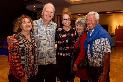 Makana Aloha Board members with Dr. and Mrs. Clyde Sakamoto.