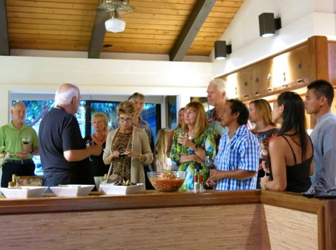 Makana Aloha founders, JoRene and Gunars Valkirs attending a cooking class and fundraiser at Chef Paris Nabavi's home
