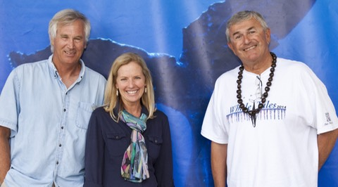 Whale Trust founders, Dr. Jim Darling, Dr. Meagan Jones and Flip Nicklin